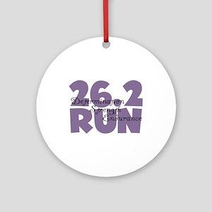 26.2 Run Purple Ornament (Round)