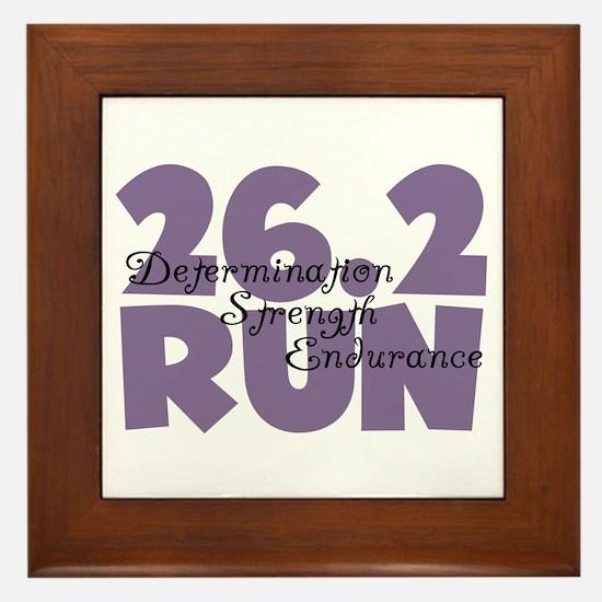 26.2 Run Purple Framed Tile