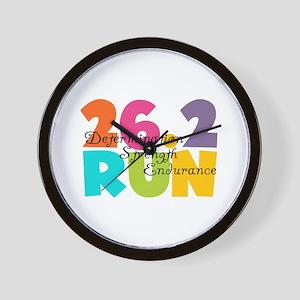 26.2 Run Multi-Colors Wall Clock