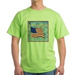 God Bless America 2 Green T-Shirt