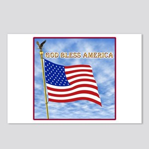 God Bless America 2 Postcards (Package of 8)