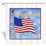 God Bless America 2 Shower Curtain
