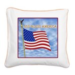 God Bless America 2 Square Canvas Pillow