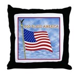 God Bless America 2 Throw Pillow