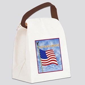 God Bless America 2 Canvas Lunch Bag
