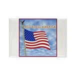 God Bless America 2 Rectangle Magnet (100 pack)