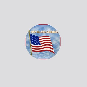 God Bless America 2 Mini Button