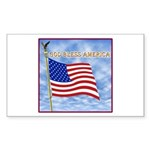 God Bless America 2 Sticker (Rectangle 50 pk)