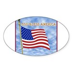 God Bless America 2 Sticker (Oval 10 pk)