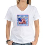 God Bless America 2 Women's V-Neck T-Shirt