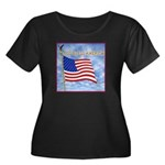 God Bless America 2 Women's Plus Size Scoop Neck D