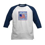 God Bless America 2 Kids Baseball Jersey
