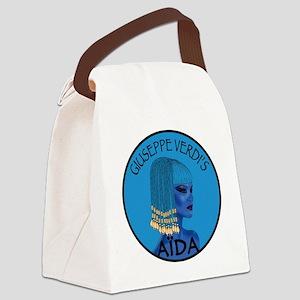Blue Aida Canvas Lunch Bag