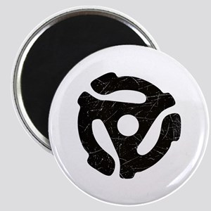 Black Distressed 45 RPM Adapter Magnet