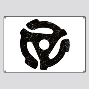 Black Distressed 45 RPM Adapter Banner