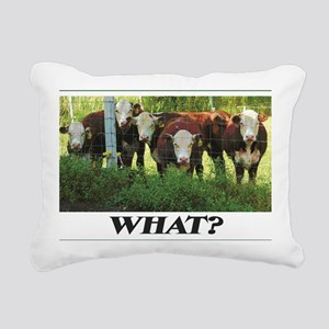 Herefords Rectangular Canvas Pillow