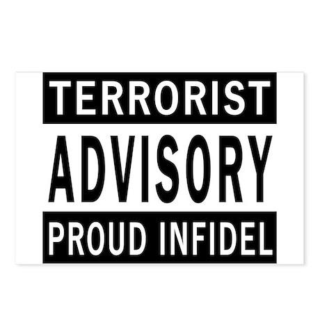 Terrorist Advisory Postcards (Package of 8)