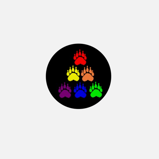 PYRAMID RAINBOW BEAR PAWS Mini Button