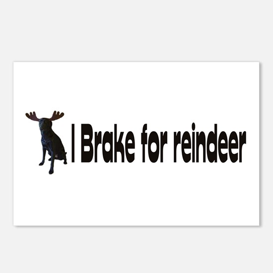 reindeer Postcards (Package of 8)