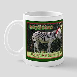 Helaine's Zebra Christmas Mug