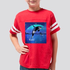orca_large_wall_clock_hell Youth Football Shirt