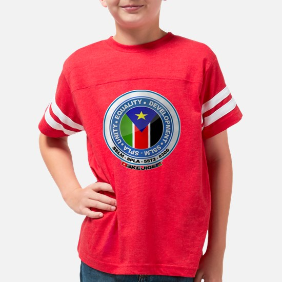 Kejig Flag Frame blue circle  Youth Football Shirt