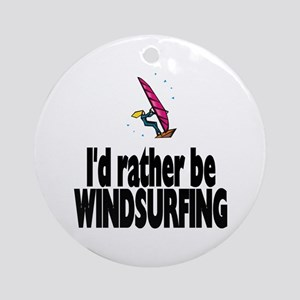 I'd rather be Windsurfing! Ornament (Round)