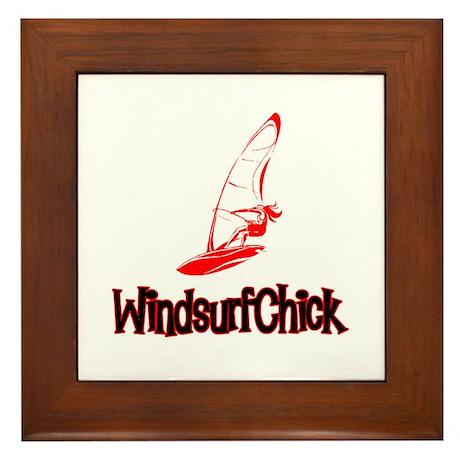WindsurfChick Logo Framed Tile