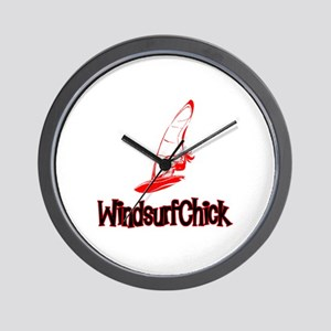 WindsurfChick Logo Wall Clock