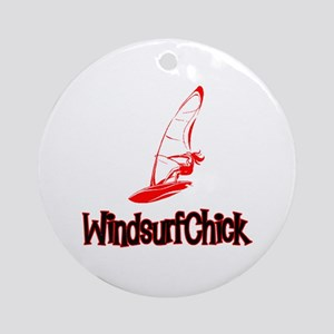 WindsurfChick Logo Ornament (Round)