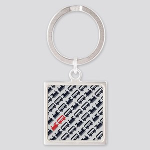 Train Square Keychain