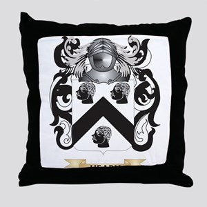 Heady Coat of Arms (Family Crest) Throw Pillow