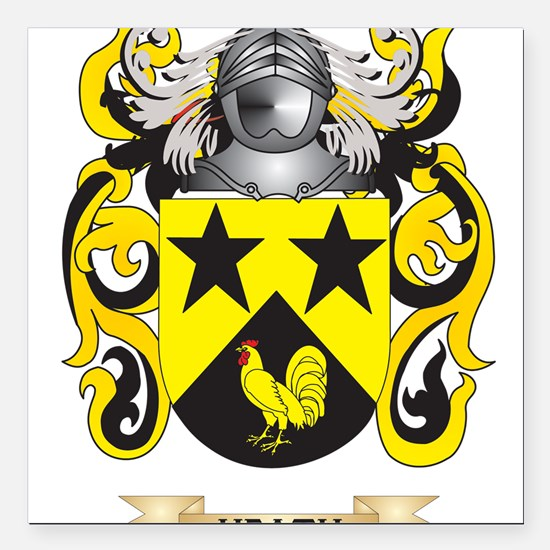 Heath Coat of Arms (Family Crest) Square Car Magne