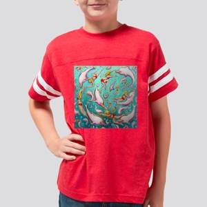 Swimming with Pink Dolphins Youth Football Shirt