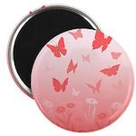 Pink Butterfly Art Magnet