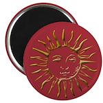 Gold Sun on Magenta Magnet