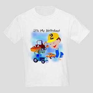 Construction 2nd Birthday T Shirt