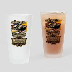 Navy Vietnam Mekong Delta Drinking Glass