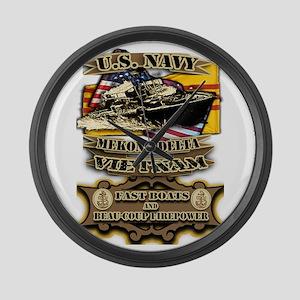 Navy Vietnam Mekong Delta Large Wall Clock
