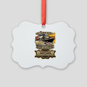 Navy Vietnam Mekong Delta Picture Ornament