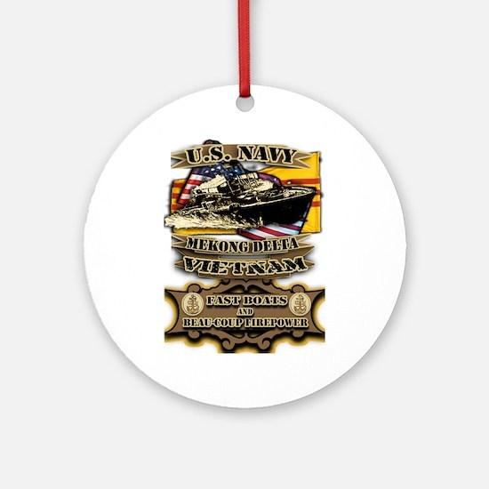 Navy Vietnam Mekong Delta Round Ornament
