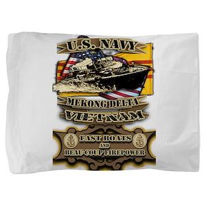 Navy Vietnam Mekong Delta Pillow Sham