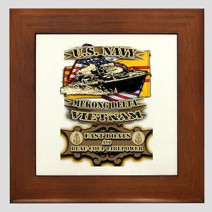 Navy Vietnam Mekong Delta Framed Tile