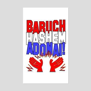 Baruch HaShem! Rectangle Sticker