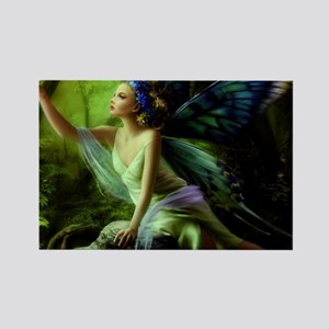 Forest Faerie Rectangle Magnet