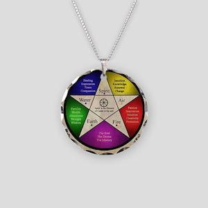 Elemental Pentagram Necklace Circle Charm