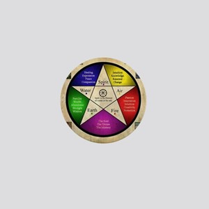 Elemental Pentagram Mini Button