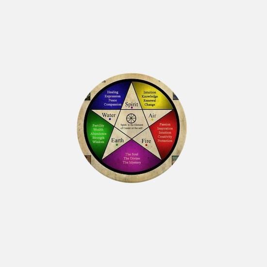 Elemental Pentagram Mini Button
