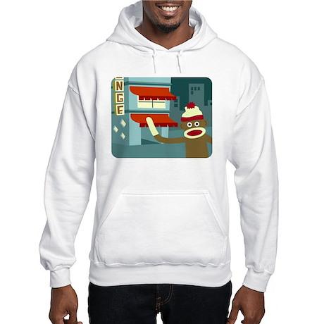 Sock Monkey Lounge Hooded Sweatshirt