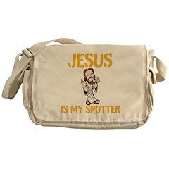 Jesus is my spotter Messenger Bag